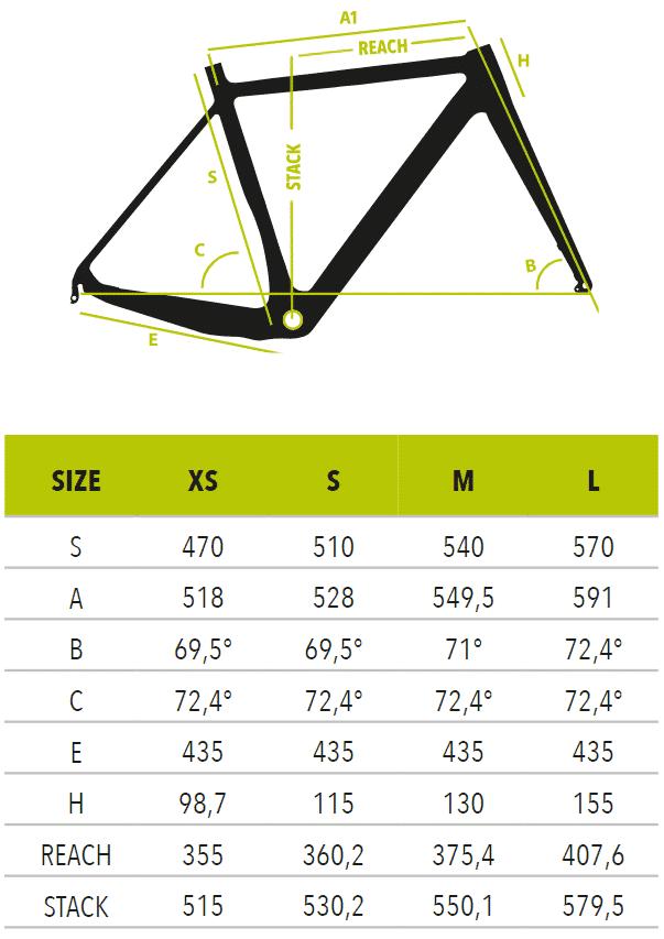 "E-Scud-Ultegra-Disco-measurements Vektor Ηλεκτρικό ποδήλατο Κούρσα 28"" Carbon S8340 - E-SCUD - Ultegra Disco"