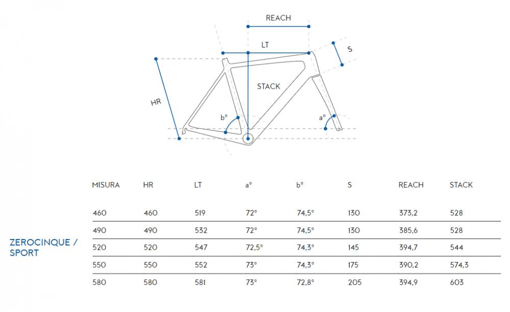 Zerocinque-Sport-measurements-1000x612 ZEROCINQUE SPORT - Shimano Tiagra Mix