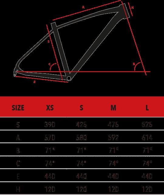 urano-27-5 Montana Ποδήλατο βουνού S268 - URANO 27,5″ ACERA 3X7 V-BRAKE
